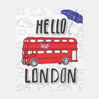 Cobertor De Velo Olá! sinal indicado por letras da mão de Londres |
