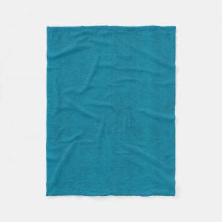 Cobertor De Velo Olhar de veludo da cor do azul de oceano