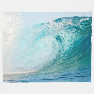 Cobertor De Velo Onda do azul de Oceano Pacífico que quebra a