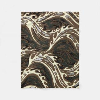 Cobertor De Velo Ondas de oceano encaracolado