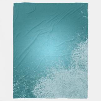 Cobertor De Velo Ondas do azul da calma do respingo do oceano