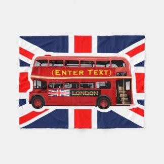 Cobertor De Velo Ônibus vermelho do autocarro de dois andares de