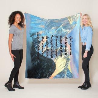 Cobertor De Velo Oração da serenidade com vista panorâmica Monte