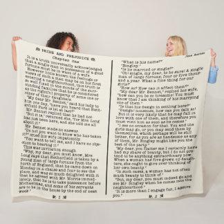 Cobertor De Velo Orgulho de Jane Austen e citações B da literatura