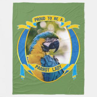 Cobertor De Velo Orgulhoso ser uma senhora Macaw Animal de