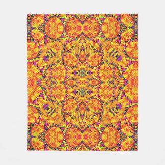 Cobertor De Velo Ornamentado vibrante colorido