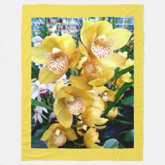 Cobertor De Velo Orquídeas amarelas do Cymbidium