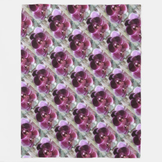 Cobertor De Velo Orquídeas de traça roxas escuras