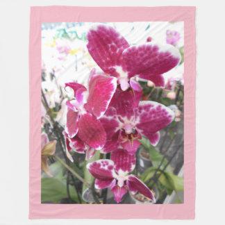 Cobertor De Velo Orquídeas roxas