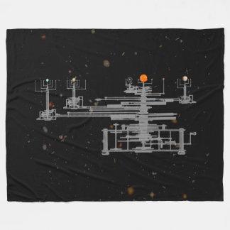 Cobertor De Velo Orrery antigo do sistema solar planetário no