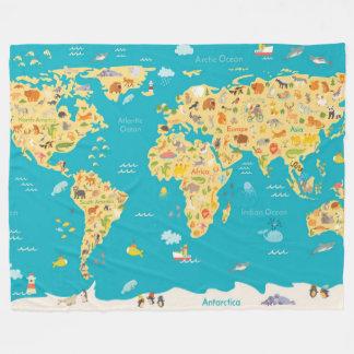 Cobertor De Velo Os animais do mundo