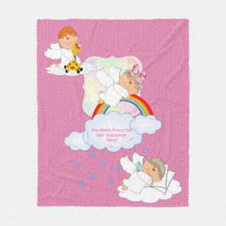 Cobertor De Velo Os anjos bonitos do Goddaughter do bebé nomearam