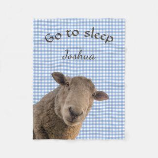 Cobertor De Velo Os carneiros vão ao sono personalizado