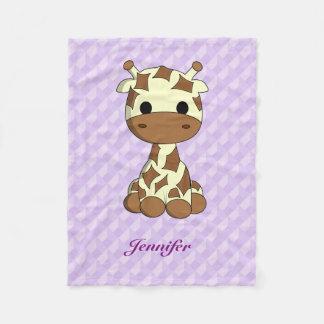 Cobertor De Velo Os desenhos animados bonitos do kawaii do girafa