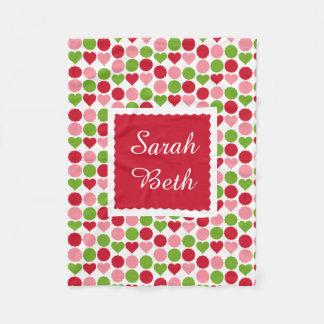 Cobertor De Velo Os queridos & os pontos, aumentaram, rosa & o