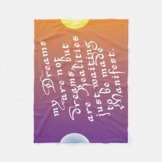 Cobertor De Velo Os sonhos são realidades que esperam para ser