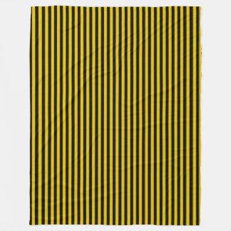 Cobertor De Velo Ouro amarelo e xadrez preta listrados