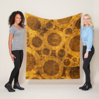 Cobertor De Velo Ouro de Steampunk do Grunge e cobertura do velo de