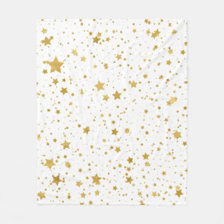 Cobertor De Velo Ouro Stars2 - Branco puro