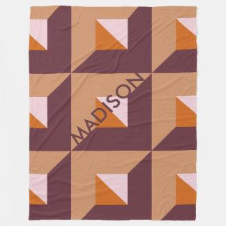 Cobertor De Velo Outono silenciado elegante que tende o monograma