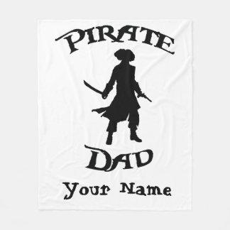 Cobertor De Velo Pai do pirata com a silhueta simples do pirata
