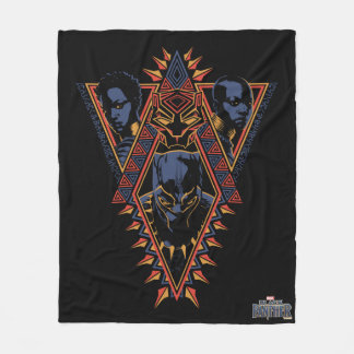 Cobertor De Velo Painel tribal dos guerreiros da pantera preta |