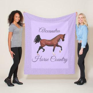 Cobertor De Velo País roxo do cavalo do cavalo árabe da baía trotar