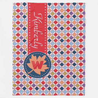 Cobertor De Velo Paleta de cores na moda da forma da queda do