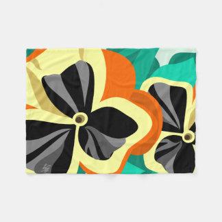 Cobertor De Velo Pansies amarelos modernos