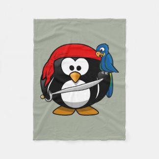 Cobertor De Velo Papagaio do pinguim do pirata