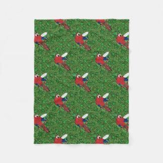 Cobertor De Velo Papagaio do rissol da rua