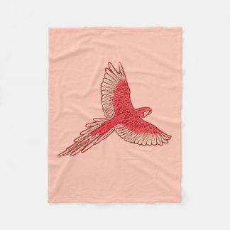 Cobertor De Velo Papagaio em vôo, alaranjado e de creme corais