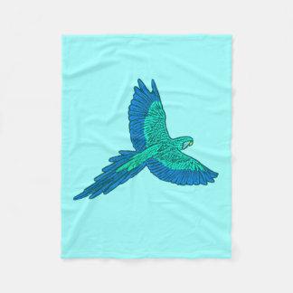 Cobertor De Velo Papagaio em vôo, Aqua e azuis cobaltos