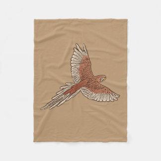 Cobertor De Velo Papagaio em vôo, oxidação, creme e camelo Tan