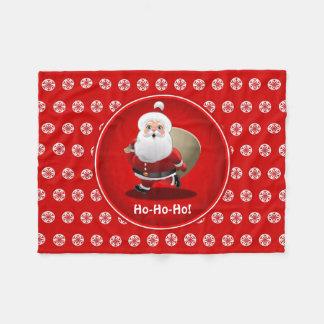Cobertor De Velo Papai Noel bonito com um cheio do saco dos