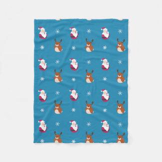 Cobertor De Velo Papai noel bonito do Natal & cobertura do velo de