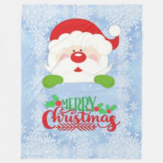 Cobertor De Velo Papai noel do Feliz Natal