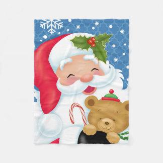 Cobertor De Velo Papai noel e seu cobertura do urso