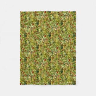 Cobertor De Velo Papoilas impressionista