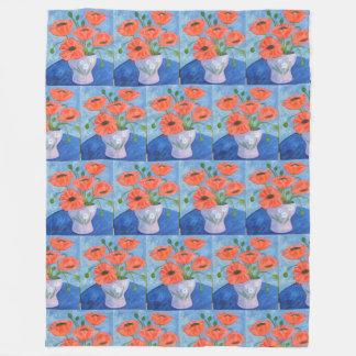 Cobertor De Velo Papoilas vermelhas alegres