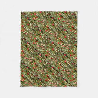 Cobertor De Velo Papoilas vermelhas em um campo de milho