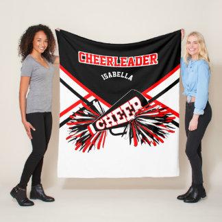 Cobertor De Velo Para um cheerleader - vermelho, branco & o preto 2