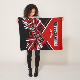 Cobertor De Velo Para um cheerleader - vermelho, preto & branco