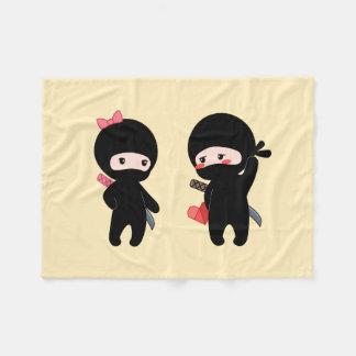 Cobertor De Velo Pares de Ninja, um menino e uma menina