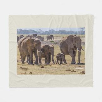 Cobertor De Velo Passeio da família do elefante