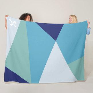 Cobertor De Velo Pastel geométrico elegante dos azuis marinhos e do
