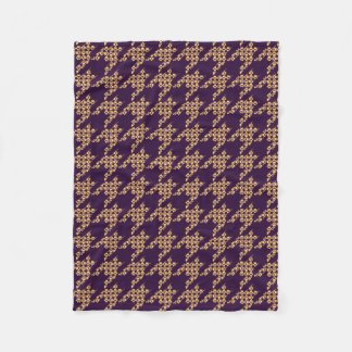 Cobertor De Velo Pata-para-Houndstooth a cobertura do velo (ameixa)
