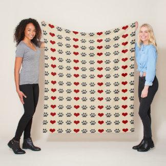 Cobertor De Velo Patas e cobertura do velo dos corações