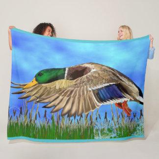 Cobertor De Velo Pato do pato selvagem em vôo