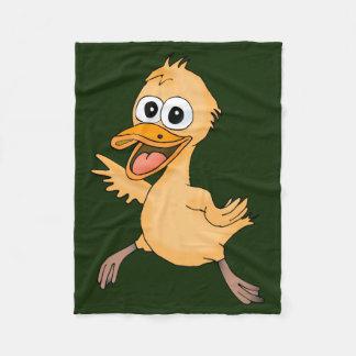Cobertor De Velo Pato dos desenhos animados em uma cobertura do
